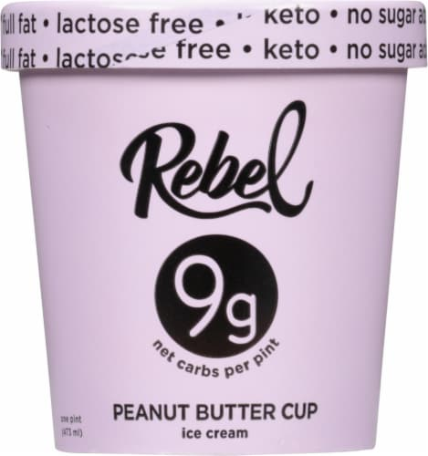 Rebel Peanut Butter Fudge Ice Cream Perspective: front