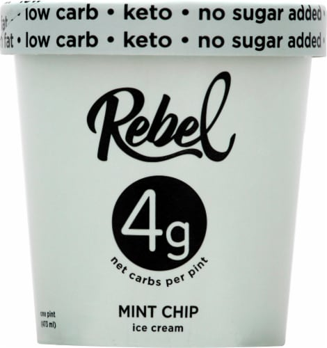Rebel Mint Chip Ice Cream Perspective: front