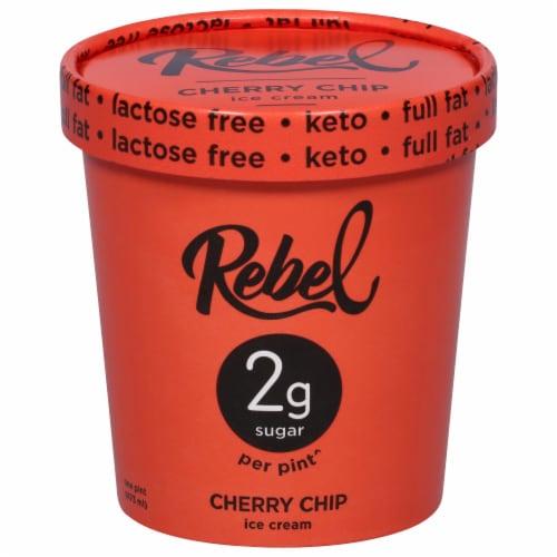 Rebel Cherry Chip Ice Cream Perspective: front
