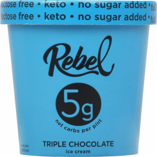Rebel Triple Chocolate Ice Cream Perspective: front