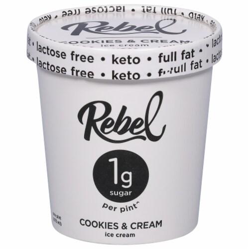 Rebel Cookies & Cream Ice Cream Perspective: front