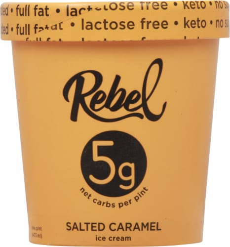 Rebel Salted Caramel Ice Cream Perspective: front