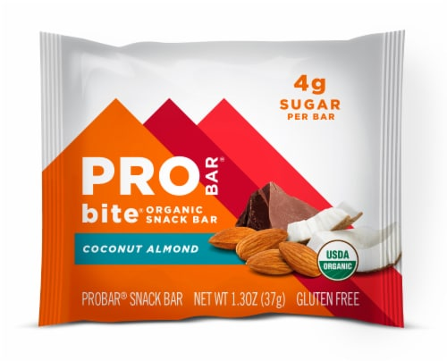 Pro Bar Organic Coconut Almond Snack Bar Perspective: front
