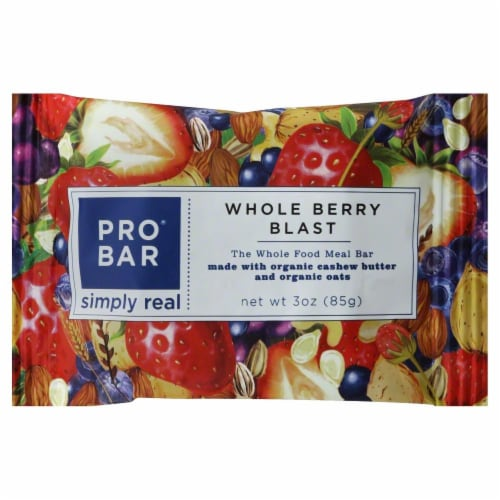 Pro Bar Whole Berry Blast Perspective: front