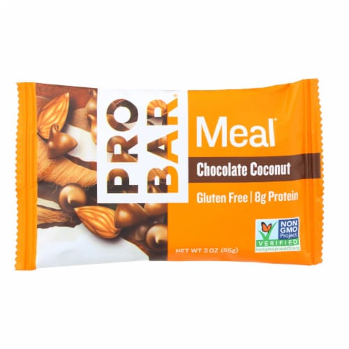 PROBAR Chocolate Coconut Meal Bar Perspective: front