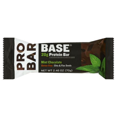 Pro Bar Gluten Free Mint Chocolate Protein Bar Perspective: front