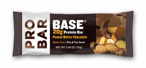 Pro Bar Base Peanut Butter Chocolate Protein Bar Perspective: front