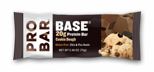 Pro Bar Base Gluten-Free Cookie Dough Protein Bar Perspective: front