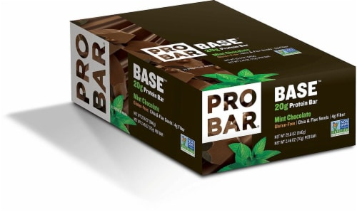 Pro Bar Base Mint Chocolate Protein Bars Perspective: front