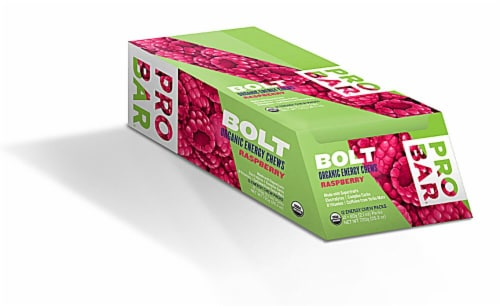 ProBar  Bolt Organic Energy Chews Gluten Free   Raspberry Perspective: front