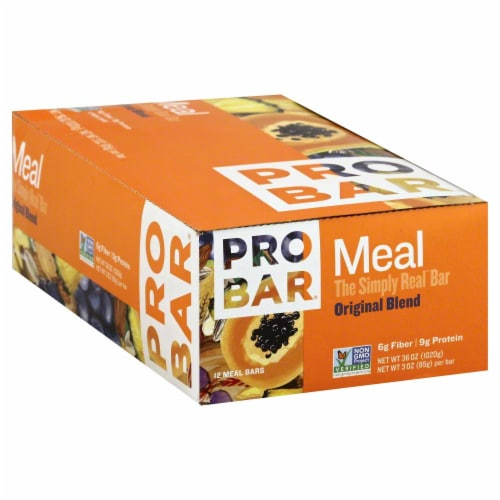Pro Bar Original Blend Meal Bar Perspective: front