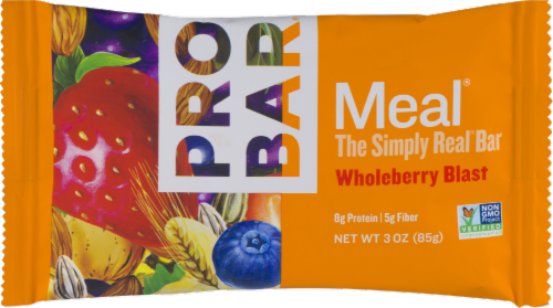 Pro Bar Meal Simply Real Whole Berry Blast Bar Perspective: front