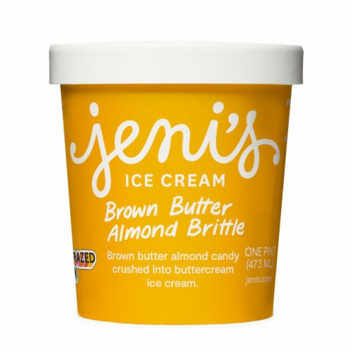 Jeni's Brown Butter Almond Brittle Ice Cream Perspective: front