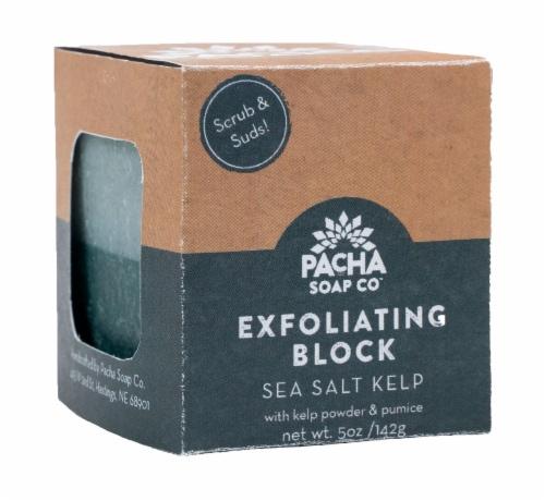 Pacha Soap Co. Sea Salt Kelp Exfoliating Bar Perspective: front
