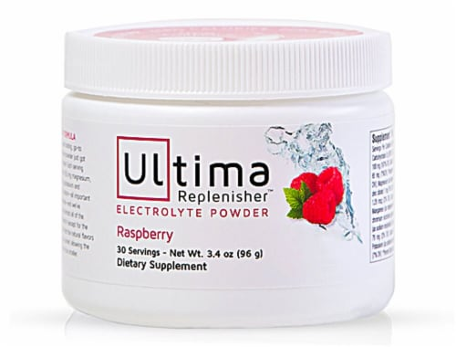 Ultima Health Products  Ultima Replenisher™ Electrolyte Powder   Raspberry Perspective: front