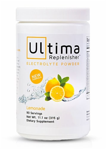 Ultima Health Products  Ultima Replenisher™ Electrolyte Powder   Lemonade Perspective: front