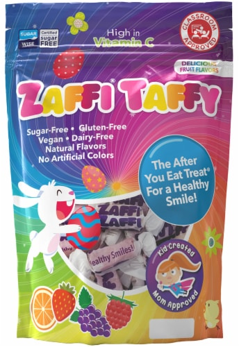 Zaffi Taffy Easter Candy Bag Perspective: front