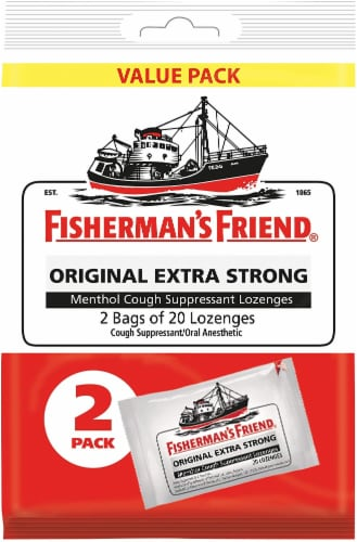 Fisherman's Friend Extra Strong Lozenges Perspective: front