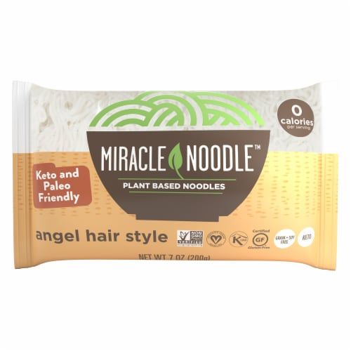 Miracle Noodle Plant-Based Angel Hair Perspective: front