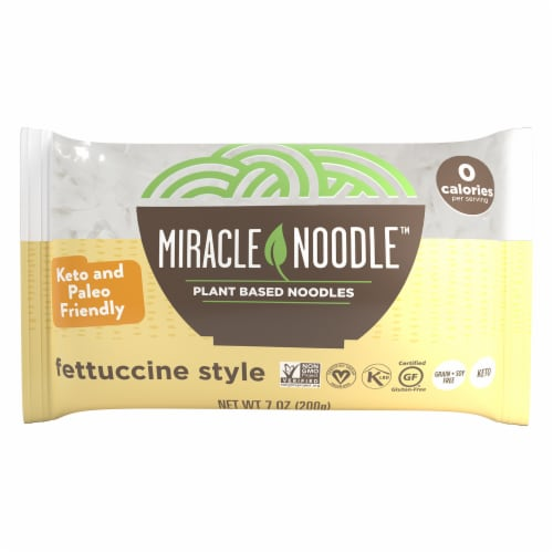 Miracle Noodle Plant Based Fettucini Style Noodles Perspective: front