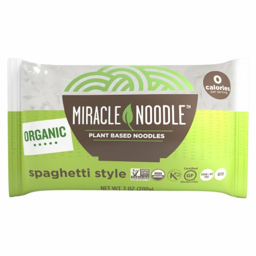 Miracle Noodle Organic Sphaghetti Style Plant Based Noodles Perspective: front
