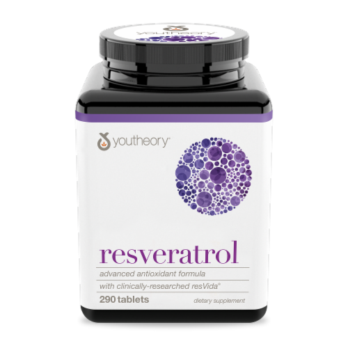 YouTheory  Resveratrol Advanced Formula Perspective: front