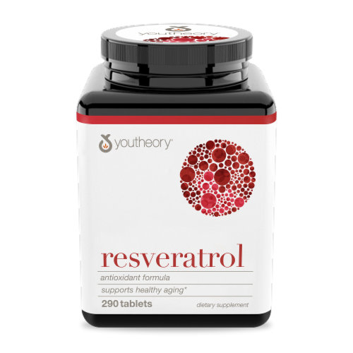 Youtheory  Resveratrol Anti-Aging Benefits Perspective: front