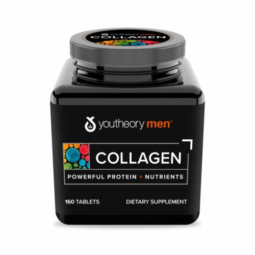 YouTheory Mens Collagen Advanced Formula Supplement Perspective: front