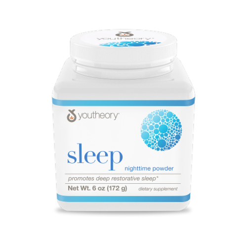 Youtheory Sleep Nighttime Powder Perspective: front