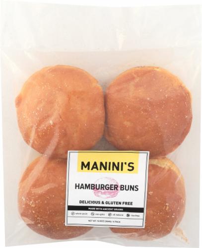 Manini's Gluten Free Hamburger Buns Perspective: front
