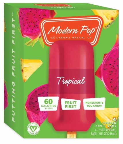 Modern Pop Tropical Fruit Bars Perspective: front