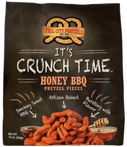 Tell City Honey BBQ Pretzel Pieces Perspective: front