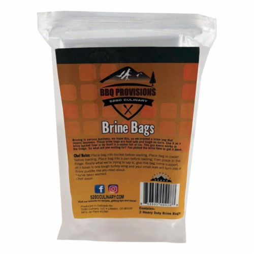 5280 Culinary BBQ Provisions 24 in. W x 30 in. L Clear Polypropylene Brine Bag - Case Of: 1; Perspective: front