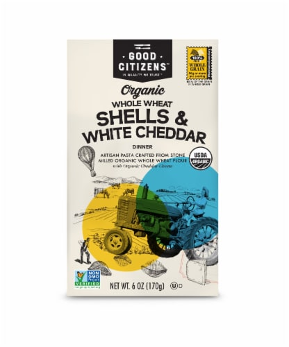 Good Citizens Organic Whole Wheat Shells & White Cheddar Pasta Dinner Perspective: front