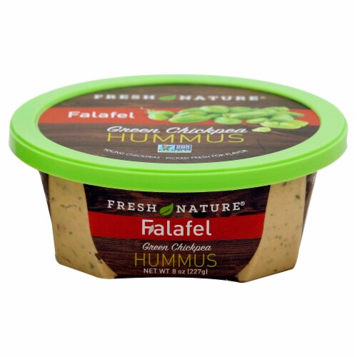 Fresh Nature Falafel Green Chickpea Hummus Perspective: front