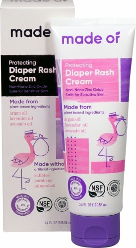 MADE OF  Natural Organic Diaper Rash Cream Perspective: front