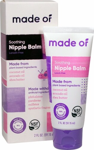 MADE OF  Organic Soothing Nipple Balm Perspective: front