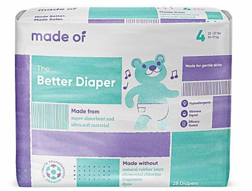 MADE OF Disposable Size 4 Diapers Perspective: front