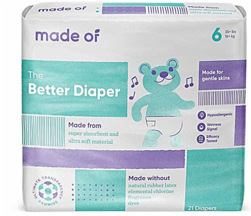 MADE OF Size 6 Diapers Perspective: front