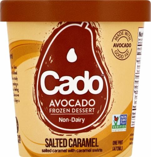 Cado Non-dairy Salted Caramel Frozen Dessert Perspective: front