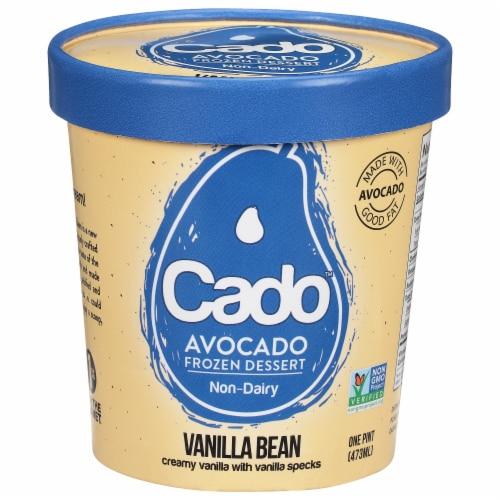 Cado Non-dairy Vanilla Bean Frozen Dessert Perspective: front