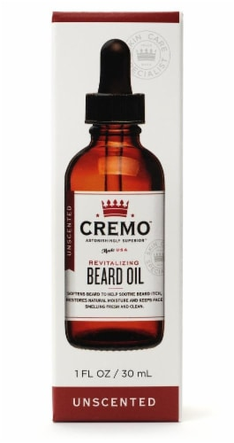 Cremo Revitalizing Unscented Beard Oil Perspective: front
