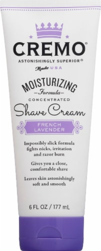 Cremo® French Lavender Moisturizing Shave Cream Perspective: front