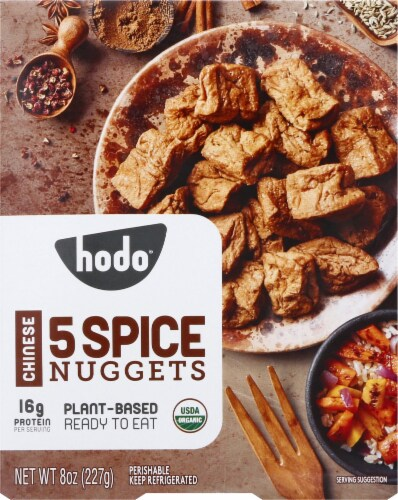 Hodo Organic Chinese 5-Spice Nuggets Perspective: front