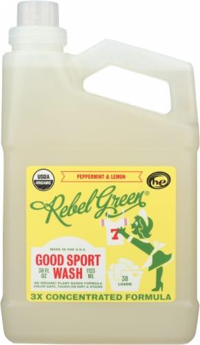 Rebel Green® Good Sport Peppermint & Lemon Laundry Detergent Perspective: front