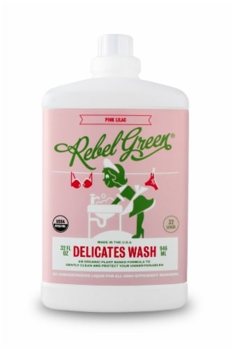 Rebel Green Delicates Wash Pink Lilac Liquid Laundry Detergent Perspective: front
