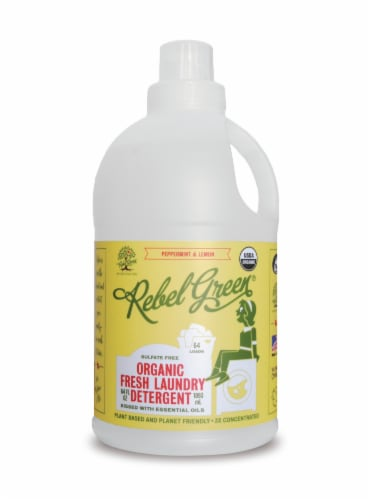 Rebel Green Peppermint & Lemon Fresh Laundry Detergent Perspective: front