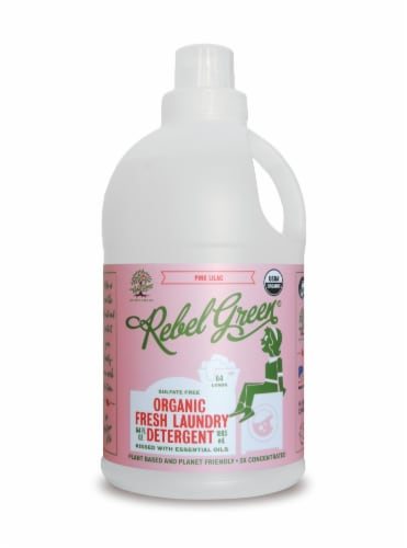 Rebel Green Pink Lilac Fresh Liquid Laundry Detergent Perspective: front