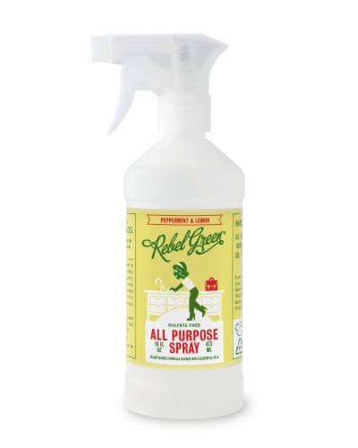 Rebel Green Peppermint & Lemon All Purpose Spray Perspective: front