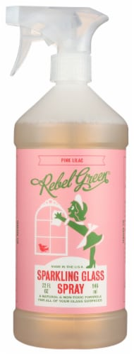 Rebel Green Pink Lilac Sparkling Glass Spray Perspective: front